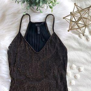 """""""Jou Jou"""" Metallic Striped Knit Tank"""